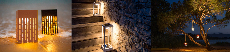 Walkway and Hanging Lights