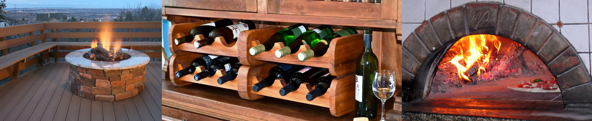 Fire Pits and Wine Rack