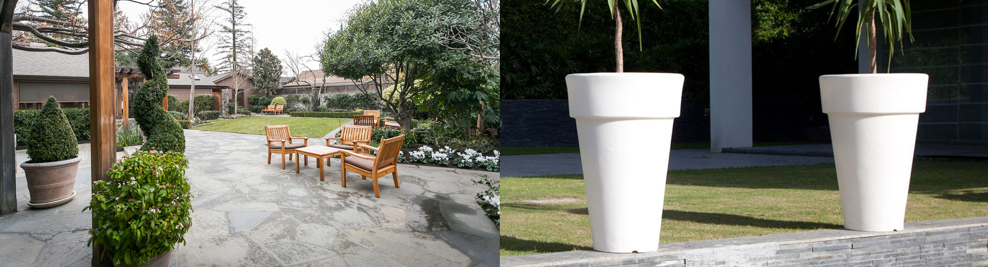 Patio and Planters