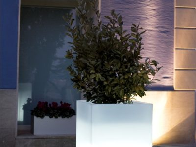 LED Cube Planter
