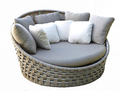 Strips round daybed