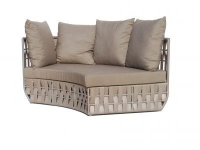 Strips curved sofa
