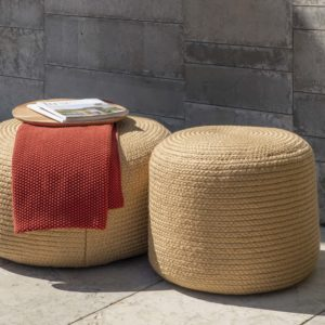 Outdoor poof stools
