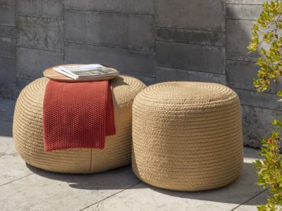 Jute Pouf Stools Outdoor