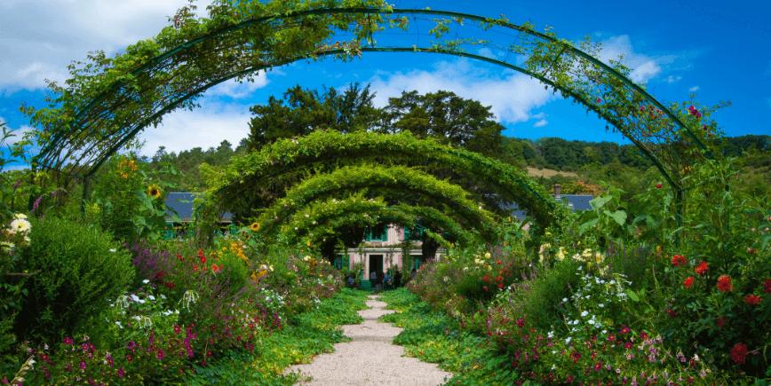 garden archway in summer