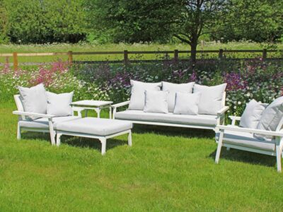 Classique Love Seat Set White
