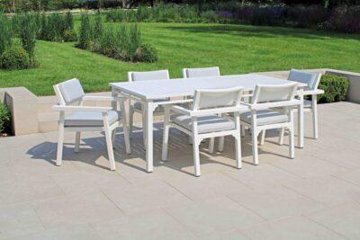 CLASSIQUE 6 SEAT DINING WHITE-1-LR