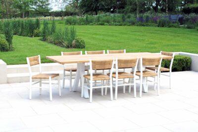 Stipa dining set White