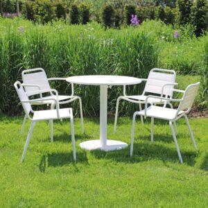 VEGA 4 SEAT DINING WHITE-2-LR