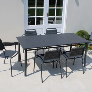 VEGA 6 SEAT DINING CARBON-2-LR