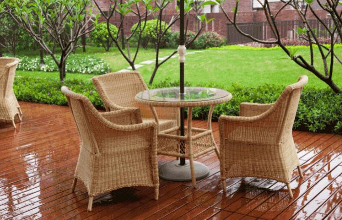wet rattan furniture dining set