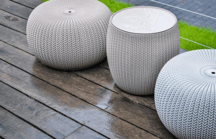 wet rattan furniture stools